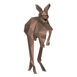 Kangaroo ear tail leg jump low poly