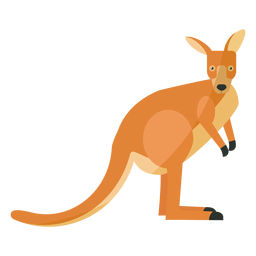 Kangaroo tail ear leg flat