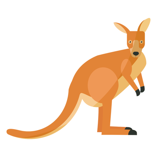 Kangaroo tail ear leg flat Transparent PNG