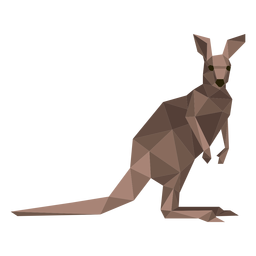 Kangaroo tail ear leg low poly