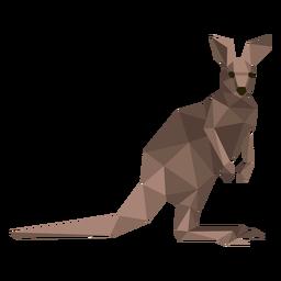Kangaroo tail ear leg low poly