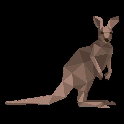 Kangaroo tail ear leg low poly Transparent PNG