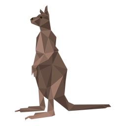 Kangaroo tail leg low poly