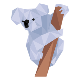 Koala ear leg nose branch low poly