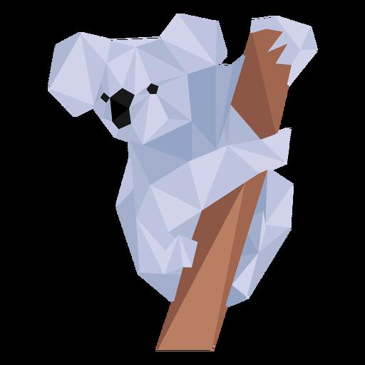 Koala oreja pierna nariz rama baja poli Transparent PNG