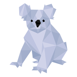 Koala oreja pierna nariz baja poli