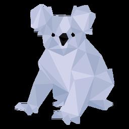 Ombro de perna de orelha de Koala baixo poli