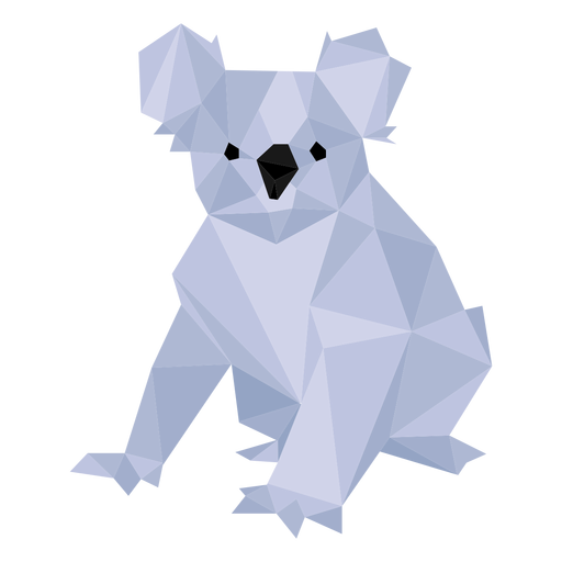 Koala ear leg nose low poly Transparent PNG