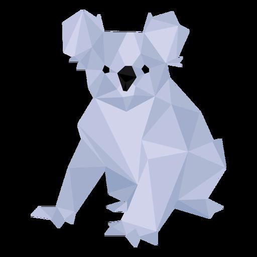 Koala-Ohrbeinnase niedrig Poly Transparent PNG