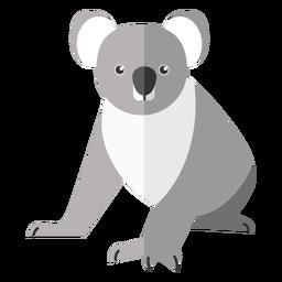 Koala pierna oreja nariz plana