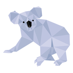 Koala leg ear nose low poly