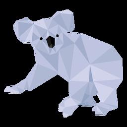 Orelha de perna de coala nariz baixo poli