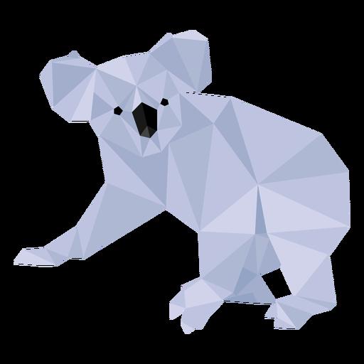 Koala-Beinohr Nase niedrig Poly Transparent PNG