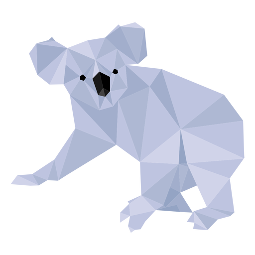 Orelha de perna de coala nariz baixo poli Transparent PNG