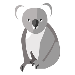 Orelha de perna de nariz de coala plana