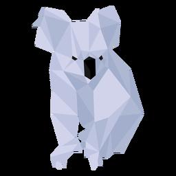 Koala Nasenbein Ohr niedrig Poly