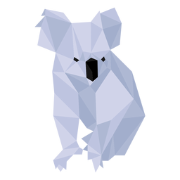 Koala nose leg ear low poly