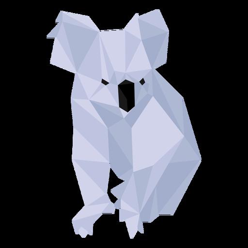 Koala Nasenbein Ohr niedrig Poly Transparent PNG