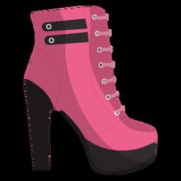 Ilustração de bota de renda no tornozelo