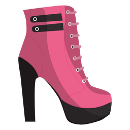 Lace ankle boot bootee illustration