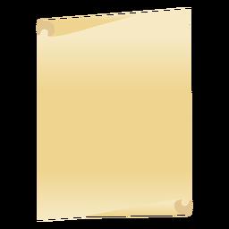 Folha de papel plana