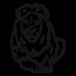 Desenho de juba do rei leão