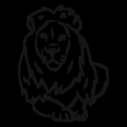 Bosquejo de la melena del rey león Transparent PNG