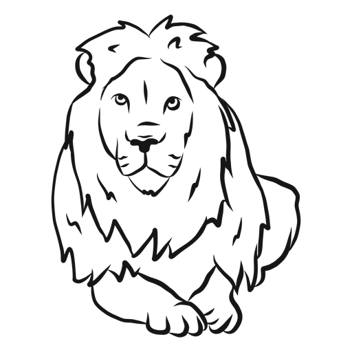 Lion king mane sketch Transparent PNG