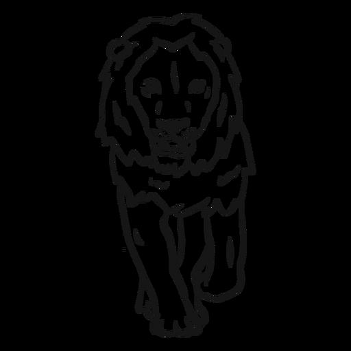Lion mane king sketch Transparent PNG