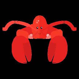Garra de antena de lagosta plana
