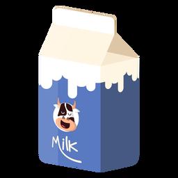 Caja de leche ilustración de vaca lechera