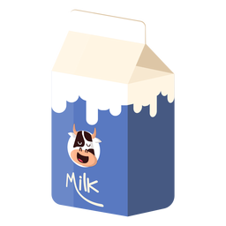Ilustração de vaca leite leite caixa