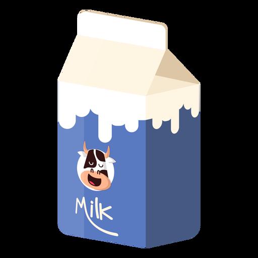 Caja de leche ilustración de vaca lechera Transparent PNG