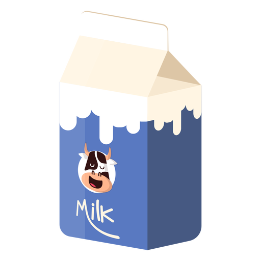 Milk box milk cow illustration Transparent PNG