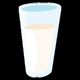 Milchglas flach
