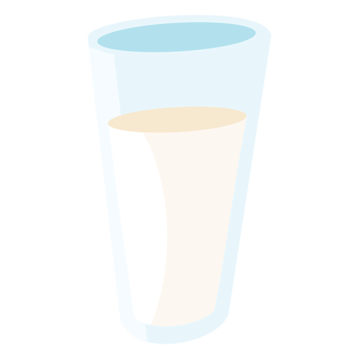 Milk glass flat Transparent PNG