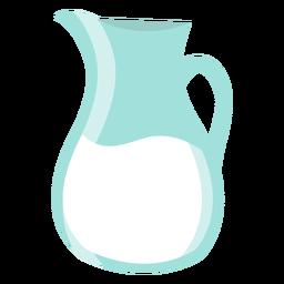 Jarra de leche plana