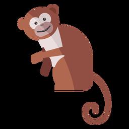 Affe Beinschnauze flach