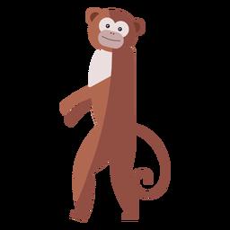 Affe Bein Schwanzmündung flach