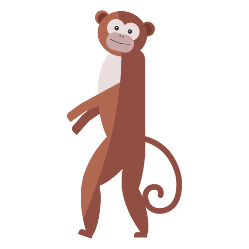 Monkey leg tail muzzle flat Transparent PNG