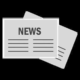 Jornal de notícias em papel liso