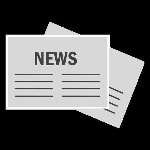Jornal de notícias em papel liso Transparent PNG