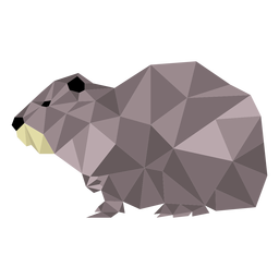 Otter muzzle low poly