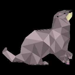 Cauda de focinho lontra low poly