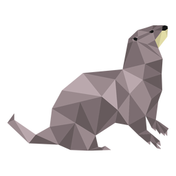 Otter muzzle tail low poly