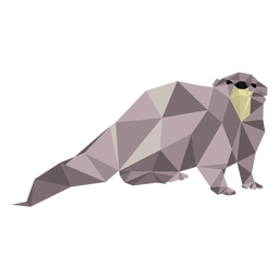 Otter tail muzzle leg low poly