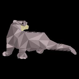 Cauda de lontra focinho baixo poli