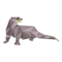 Otter tail muzzle low poly