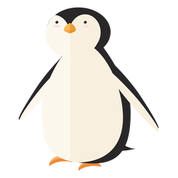Pinguim bico asa gordura plana