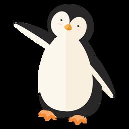 Pinguim gordo bico asa plana